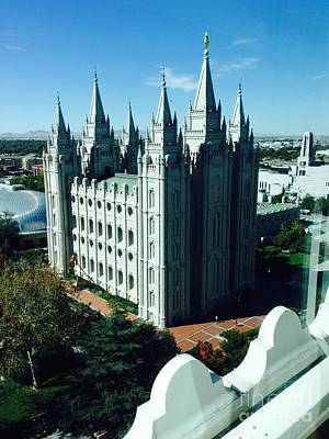 Photograph - Salt Lake Temple The Church Of Jesus Christ Of Latter-day Saints The Mormons by Richard W Linford