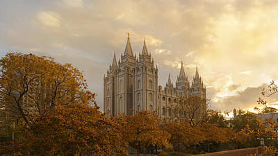 Mural Photograph - Salt Lake Temple Ultra High Resolution by Dustin  LeFevre