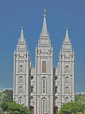 Photograph - Salt Lake Temple by VaLon Frandsen
