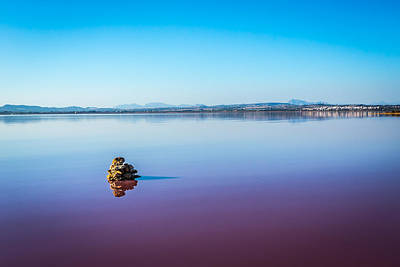 Art Print featuring the photograph Salt Lake Torrevieja. by Gary Gillette