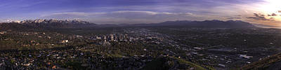 Temple Photograph - Salt Lake Valley by Chad Dutson