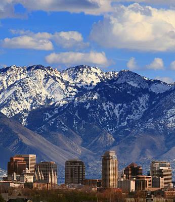 Photograph - Salt Lake Valley Utah by Douglas Pulsipher