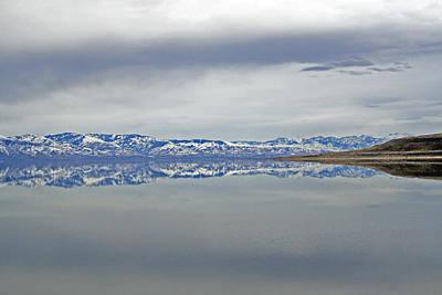 Salt Lake Winter Art Print by Jeff Lucas