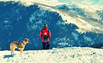 Perros Photograph - Salt Lake City Avalanche Dog And Rescue Team by Patricia Awapara