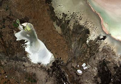 Satellite Image Photograph - Salt Lakes by Jaxa/european Space Agency
