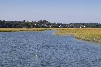Photograph - Salt Marsh At High Tide 1 by MM Anderson