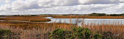 Photograph - Salt Marsh Panorama by Paulette B Wright