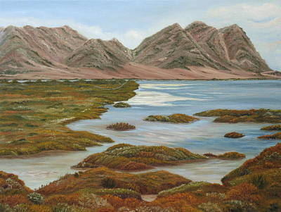 Rare Bird Painting - Salt Marsh by Angeles M Pomata