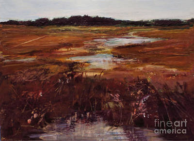 Painting - Salt Marsh Series 4 by Diane Ursin