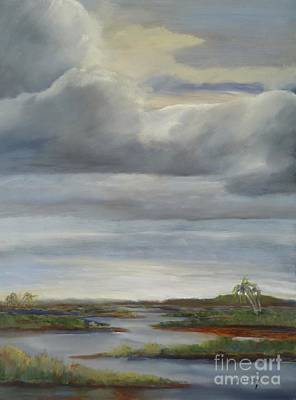 Painting - Salt Marsh Storm II by Sally Simon