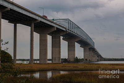 Photograph - Salt Marsh Under Don Holt Bridge by Dale Powell