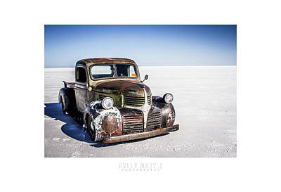 Salt Metal Pick Up Truck Art Print