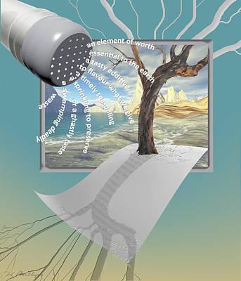 Digital Art - Salt Of The Earth by Jennifer Kathleen Phillips