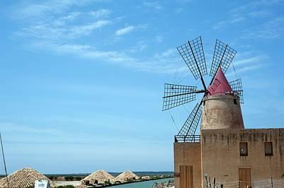 Salt Pan Windmill Art Print by Jon Wilson