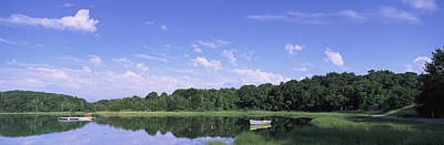 Salt Pond In A Forest, Massachusetts Art Print by Panoramic Images