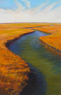 Wall Art - Painting - Salt Prairie by Ed Chesnovitch