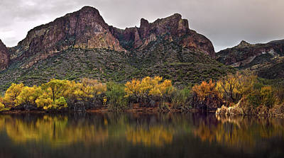Reflections Photograph - Salt River Mountain Reflections by Dave Dilli