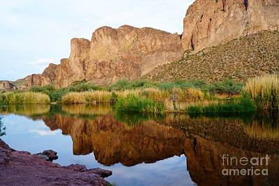Photograph - Salt River Reflection Landscape by Kerri Mortenson