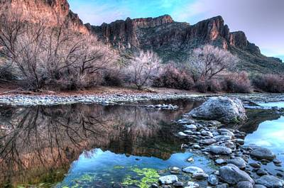 Photograph - $250 - 16x20 Canvas -salt River Reflection by Tam Ryan