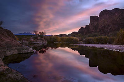 Photograph - Salt River Sunrise 2 by Dave Dilli