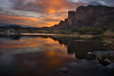 Photograph - Salt River Sunset by Dave Dilli