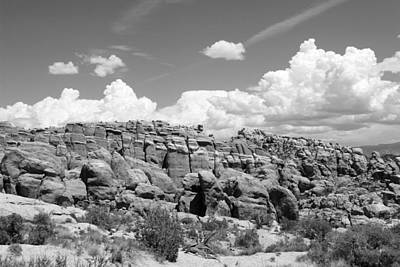 Photograph - Salt Valley 5 Arches National Park Bw by Mary Bedy