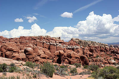 Photograph - Salt Valley 5 Arches National Park by Mary Bedy