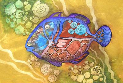 Graphics Painting - Salt-water Fish by Khromykh Natalia