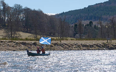 Photograph - Saltire Canoe - River Spey - Scotland by Phil Banks