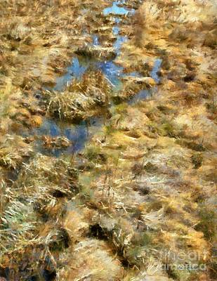 Connecticut Landscape Digital Art - Saltmarsh Thaw by RC DeWinter