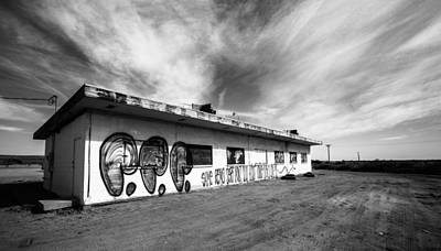 Art Print featuring the photograph Salton Sea Cafe by Robert  Aycock