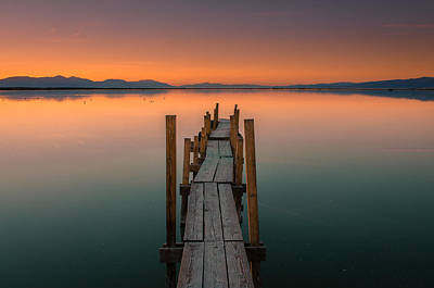 Photograph - Salton Sea Dock by Ralph Vazquez