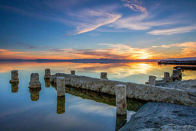 Photograph - Salton Sea Mirror by Robert  Aycock
