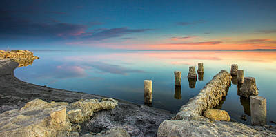 Art Print featuring the photograph Salton Sea Reflections by Robert  Aycock