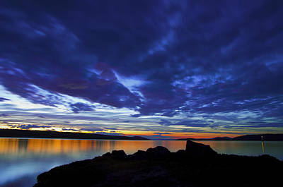 Saltspring Island Sunset  Art Print by Rob Mclean