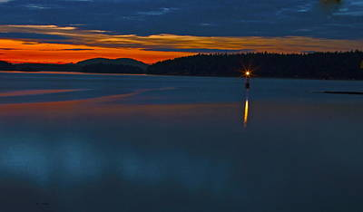 Saltspring Sunset  Art Print by Rob Mclean