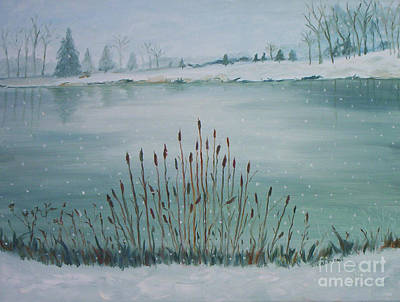Saltville Pond Art Print by Julie Brugh Riffey