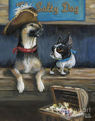 Boston Painting - Salty Dogs by Robin Wiesneth