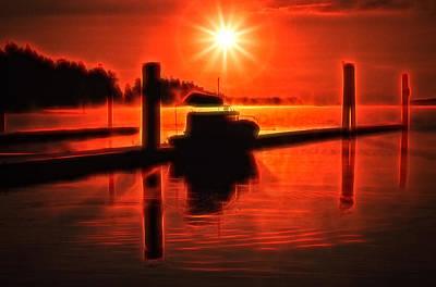 Digital Art - Salty Sunrise by Richard Farrington