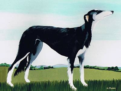 Saluki Painting - Saluki Cross by Maggie Rowe