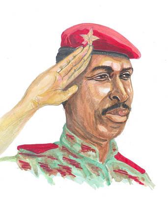 Painting - Salut Militaire by Emmanuel Baliyanga