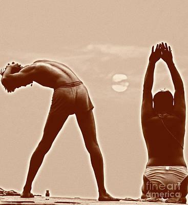 Photograph - Salutations To The Rising Sun Varanasi India by Neville Bulsara