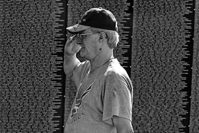 Vietnam War Memorial Photograph - Salute by Lone Dakota Photography