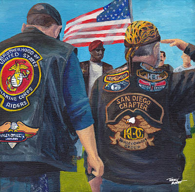 Painting - Salute To A Hero by Terry Albert