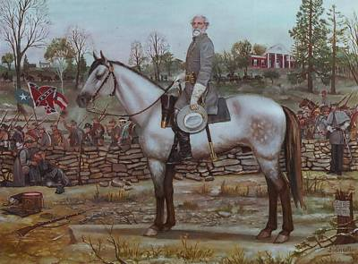 Robert E Lee Painting - Salute To The Fallen by Henry Godines