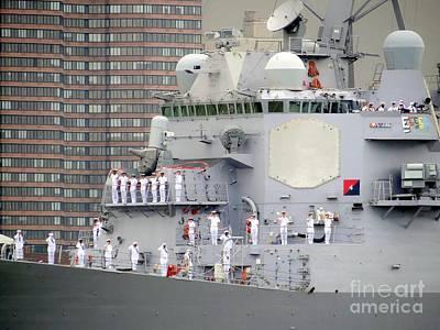 Photograph - Saluting Sailors by Ed Weidman