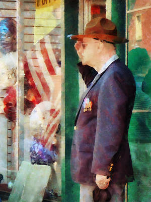 Photograph - Saluting The Flag by Susan Savad