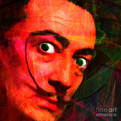 Portraits Digital Art - Salvador Dali 20141213 V2 Square by Wingsdomain Art and Photography