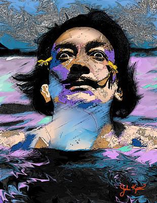 Digital Art - Salvador Dali by John Keaton