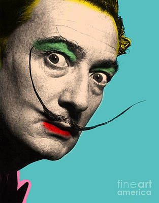 Caricature Portraits Digital Art - Salvador Dali by Mark Ashkenazi